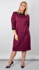 Доротея. Жіноча сукня великого розміру. Бордо.