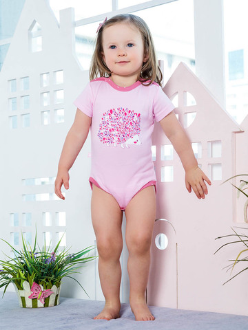KotMarKot. Боди  для девочки с короткими рукавами Весеннее вдохновение