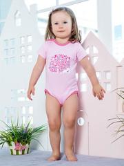 KotMarKot. Боди для девочки с короткими рукавами Весеннее вдохновение вид 1