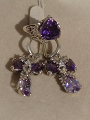 Триумф (кольцо + серьги из серебра)