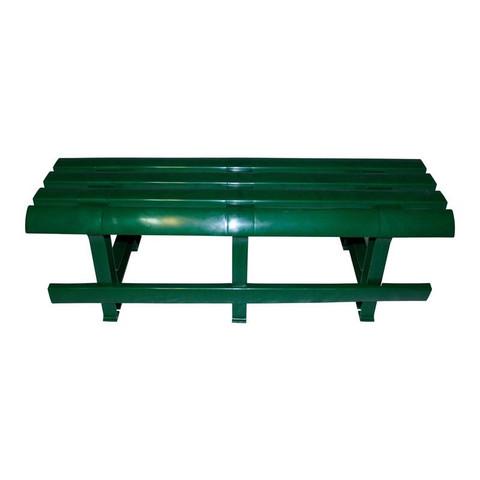 Пластиковая скамья №3 темно-зеленая
