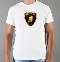 Футболка с принтом Ламборджини, Ламборгини (Lamborghini) белая 002