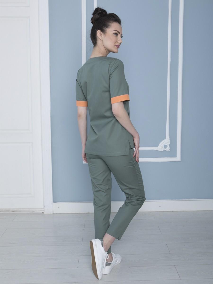 Костюм женский медицинский от производителя Бл-355+Б-122 ткань сатори
