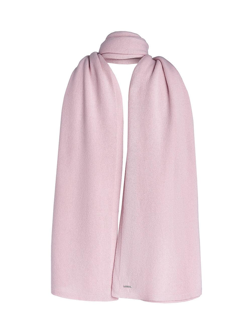Женский шарф светло-розового цвета из 100% кашемира - фото 1