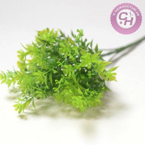 Искусственная зелень незабудки, 40 см.