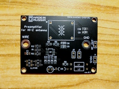 YCCC Hi-Z preamplifier for experimenters and RX antenna system
