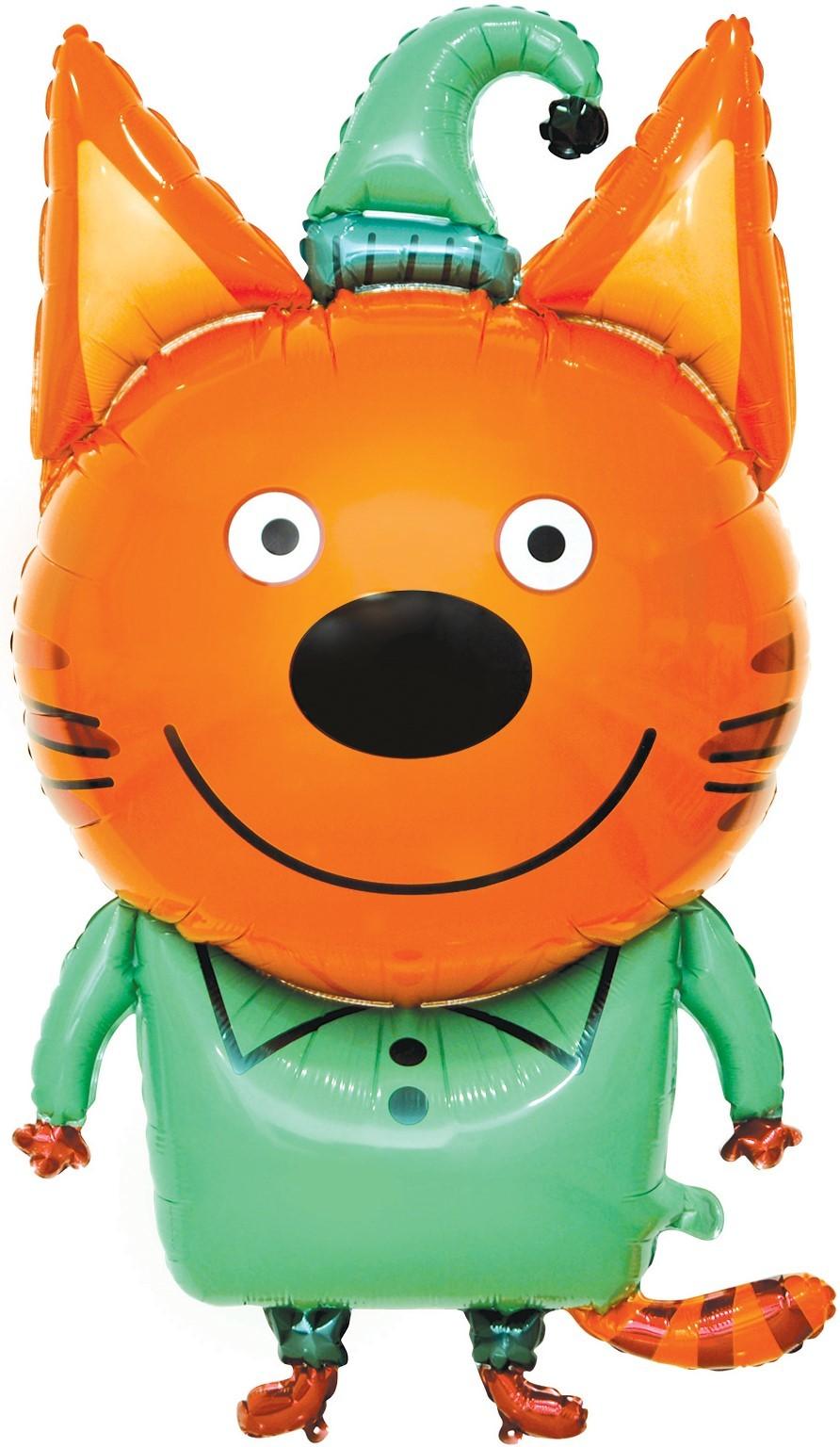 Фольгированный шар Фигура, Три Кота, Компот, 1 шт, 34х86 см