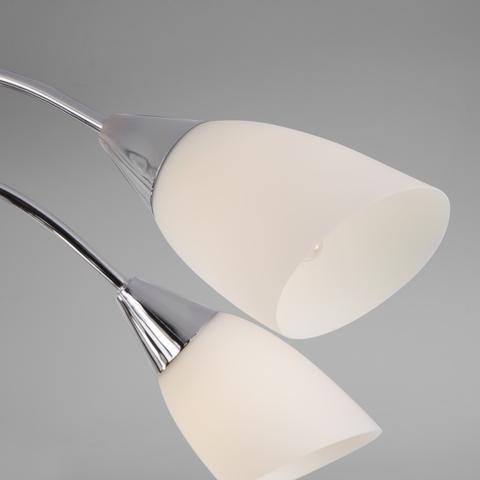 Потолочная люстра со стеклянными плафонами 30149/8 хром