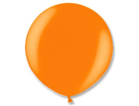 Большой шар металлик оранжевый