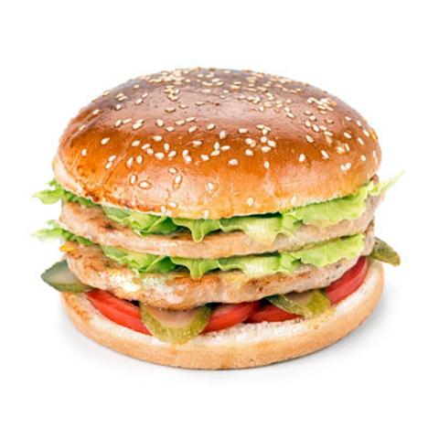 Двойной (Double) бургер с курицей (классический соус)