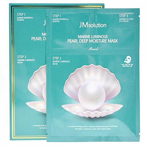Трёхшаговая увлажняющая маска для лица с жемчугом JMsolution - Marine luminous pearl deep moisture mask, 30мл