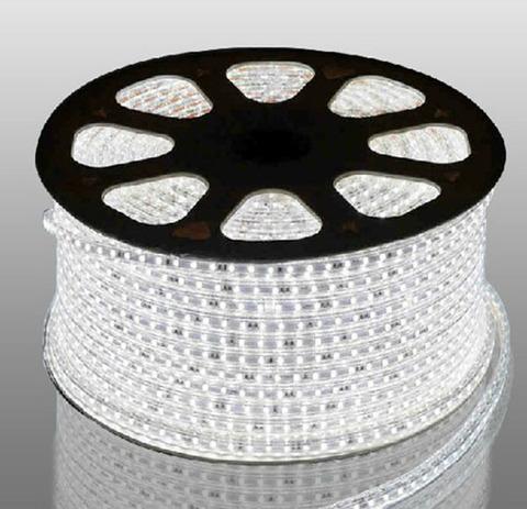 Светодиодная лента SMD3528/120, 220V влагозащищенная. Белая.