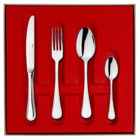 Набор столовых приборов  на 6 персон, 24 предмета, нержавеющая сталь , серебристый, артикул 206259, серия Confidence