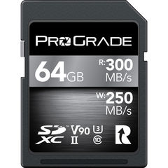 Карта памяти ProGrade Digital 64GB UHS-II SDXC 300 / 250 MB/s V90