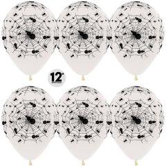 S 12''/30см, Пауки, Прозрачный (390), кристалл, 5 ст, / 50 шт. /