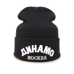 Вязаная шапка хоккей Динамо Москва КХЛ  (KHL) черная