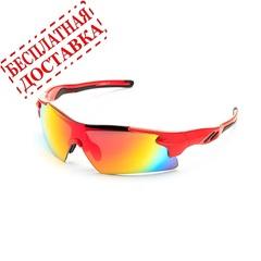 Очки солнцезащитные 2K S-14058-B (красный глянец / красный revo)