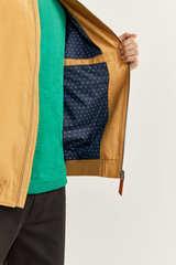 Куртка-бомбер зі штучної замші з мікроперфорацією