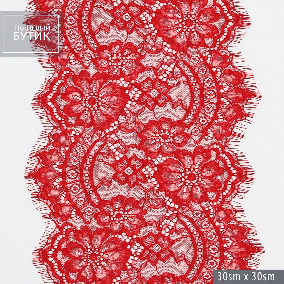 Нежное нейлоновое кружево красного цвета