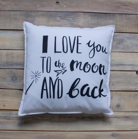 Декоративная подушка I love you