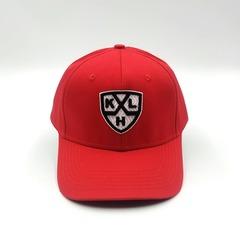 Кепка с вышитым логотипом KXL (Бейсболка КХЛ) красная