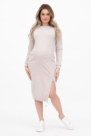 Платье для беременных и кормящих 12356 светло-бежевый