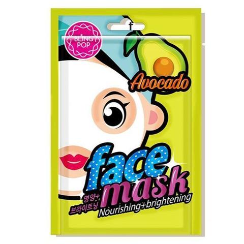 Тканевая маска для лица Bling Pop с экстрактом авокадо 23 мл