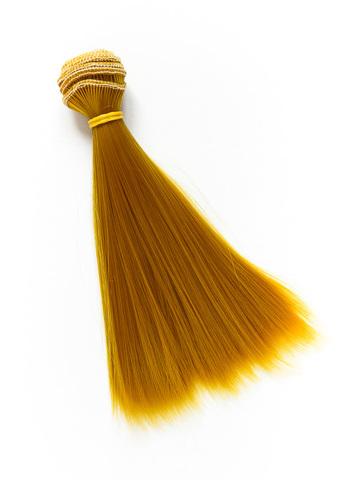 Волосся для ляльки, Let's make треси 15 см. Золотистий