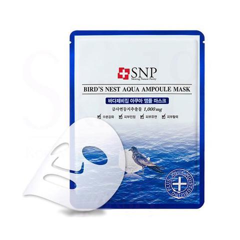 Маска тканевая с экстрактом ласточкиного гнезда SNP Bird`s Nest Aqua Ampoule Mask