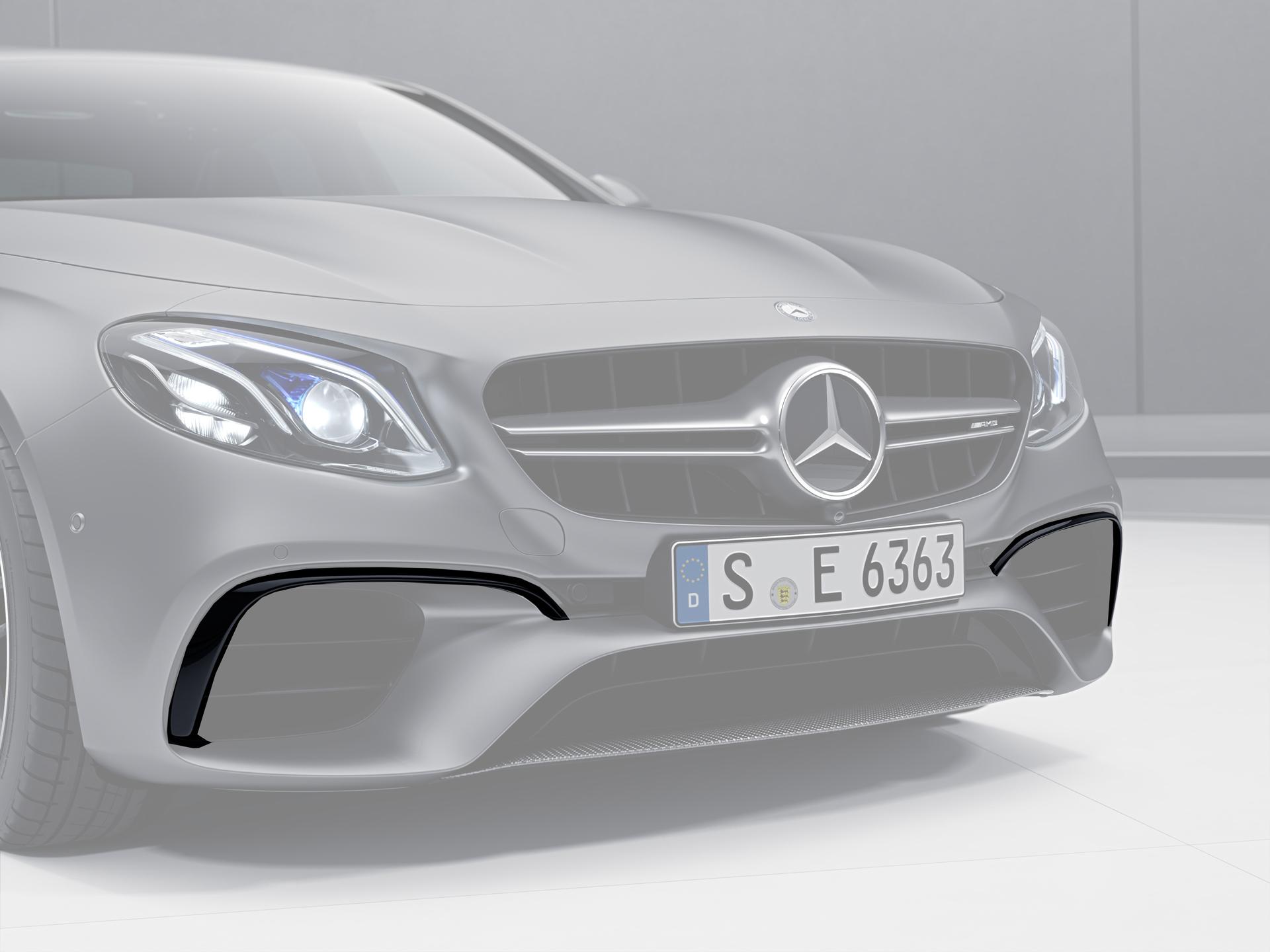Карбоновые ресницы переднего бампера 63 AMG Style для Mercedes E-class W213