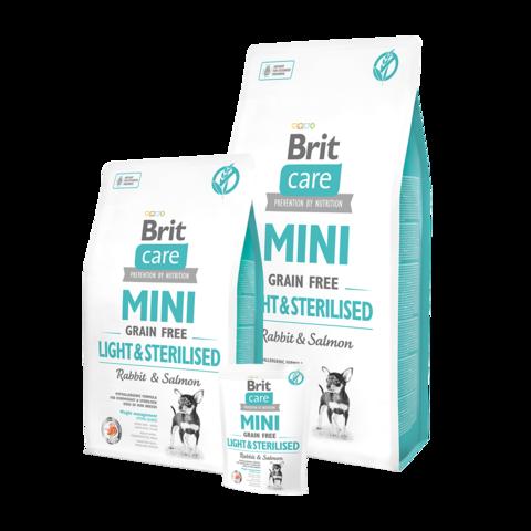 Brit Care GF Mini Light & Sterilised Сухой корм для стерилизованных собак мелких пород с избыточным весом беззерновой