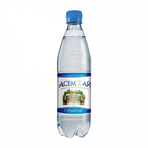 Вода минеральная АСЕМ-АЙ б/газа 0,5 л Сары-агаш КАЗАХСТАН