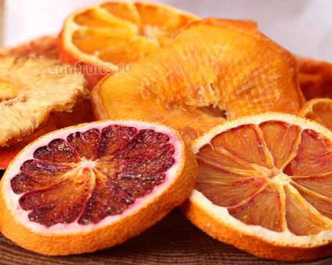 фруктовые чипсы из апельсина и мандарина