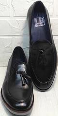 Мужские стильные туфли лоферы кожа Luciano Bellini 91178-E-212 Black.