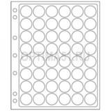 Лист ENCAP для альбомов GRANDE на 48 ячеек для монет D 22-23 мм в капсулах