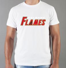 Футболка с принтом НХЛ Калгари Флэймз (NHL Calgary Flames) белая 004