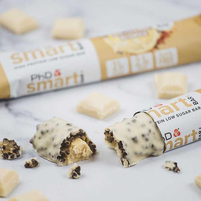PhD Smart Bar, протеиновый батончик, вкус Белый Шоколад, упаковка 12х64 гр.