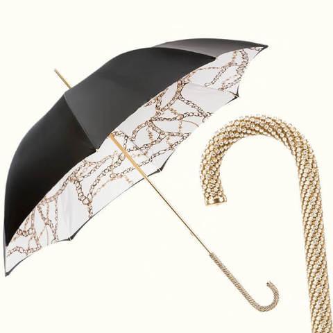 зонт сваровски с золотыми цепями