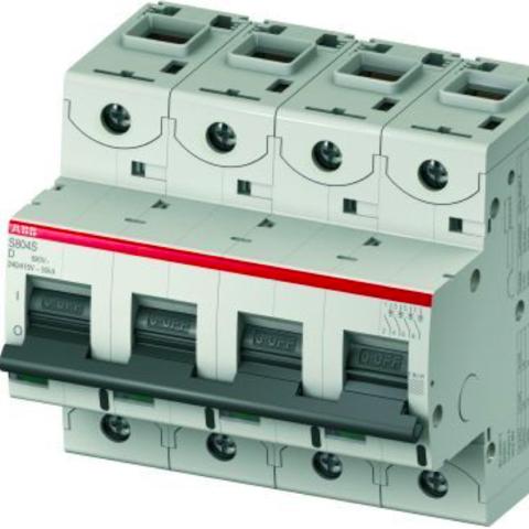Автоматический выключатель 4-полюсный 20 А, тип D, 25 кА S804S D20. ABB. 2CCS864001R0201