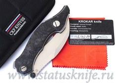 Нож Krokar CF (Алексей Коныгин, титан, карбон, цирконий, M390)