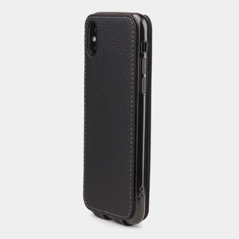 Чехол для iPhone X/XS из натуральной кожи теленка, цвета черный мат