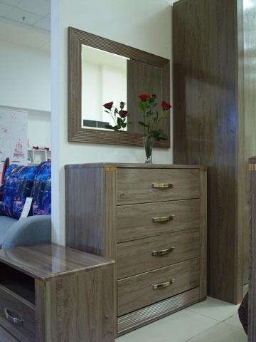 Зеркало настенное Париж 7 Ижмебель дезира темная/орех натуральный глянец