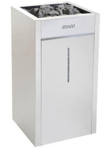 Harvia Электрическая печь Virta Combi HLS90S Steel HLS900400S 9 кВт (с парогенератором, ручной залив воды, без пульта)