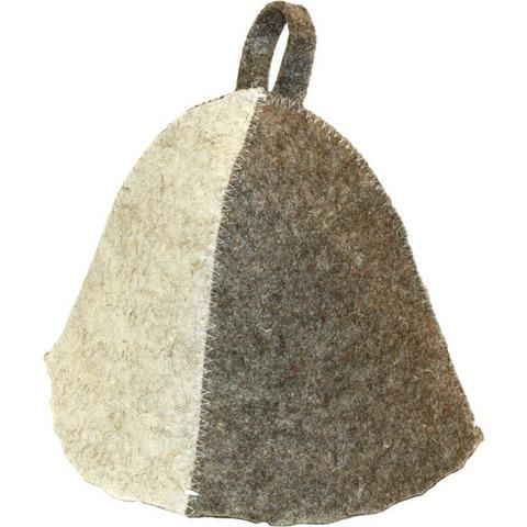 Шапка войлочная серо-белая
