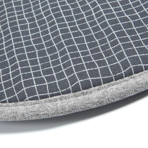 Подушка Stick круглая темно-синяя