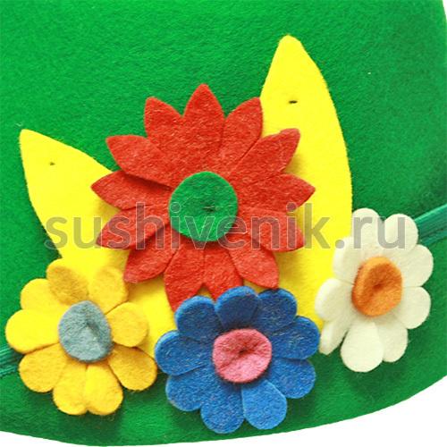 Фетровая женская шапка Лето