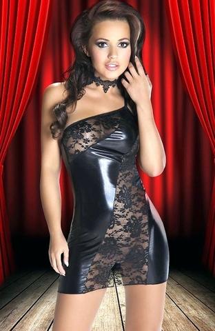 Комбинированное эротическое платье Sila