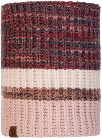 Вязаный шарф-труба с флисом Buff Neckwarmer Knitted Polar Alina Blossom Red фото 1