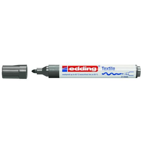 Маркер для текстиля Edding E-4500 серый (толщина линии 3 мм)