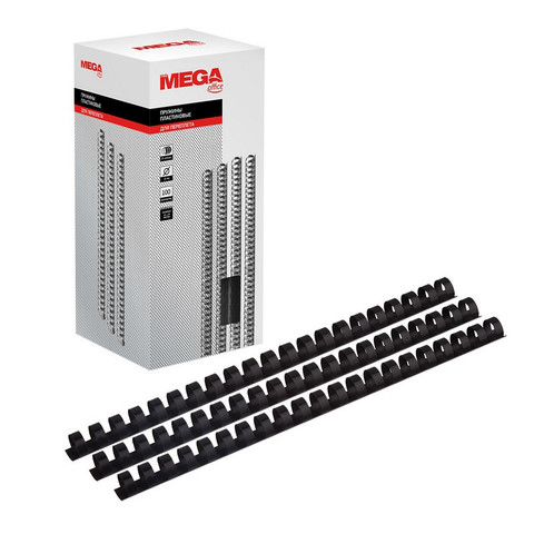 Пружины для переплета пластиковые Promega office 16 мм черные (100 штук в упаковке)
